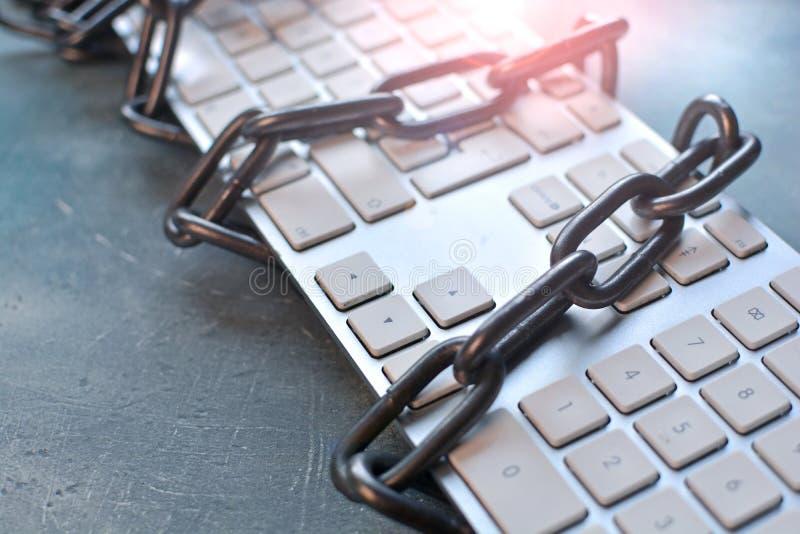 Internet-gegevensbescherming en computerbeveiligingconcept stock fotografie