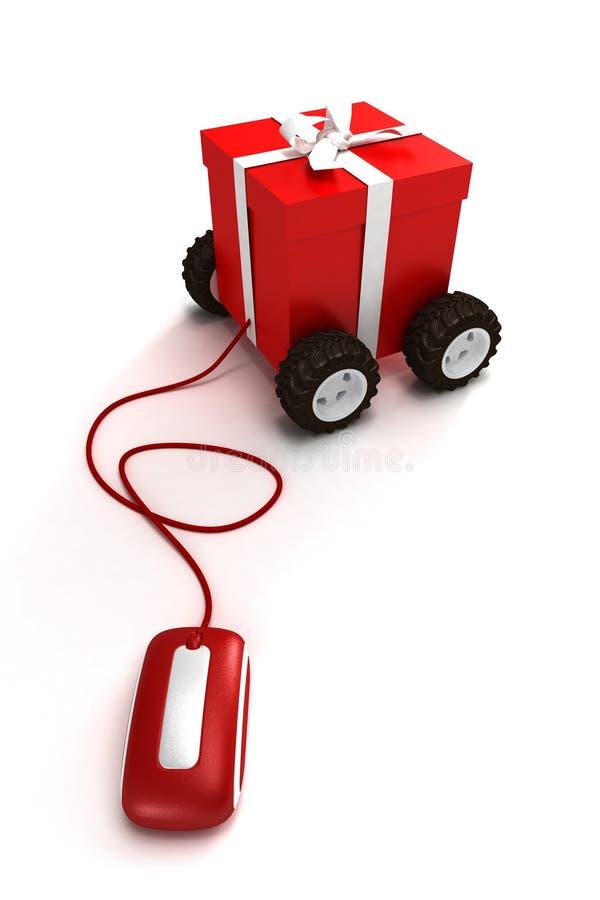 Internet gemotoriseerde gift stock illustratie