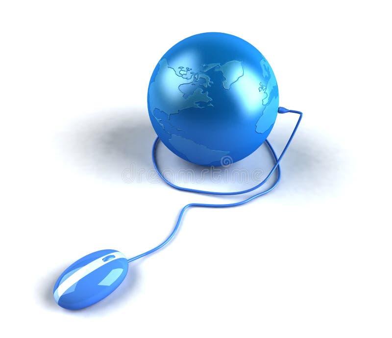 Internet global ilustración del vector