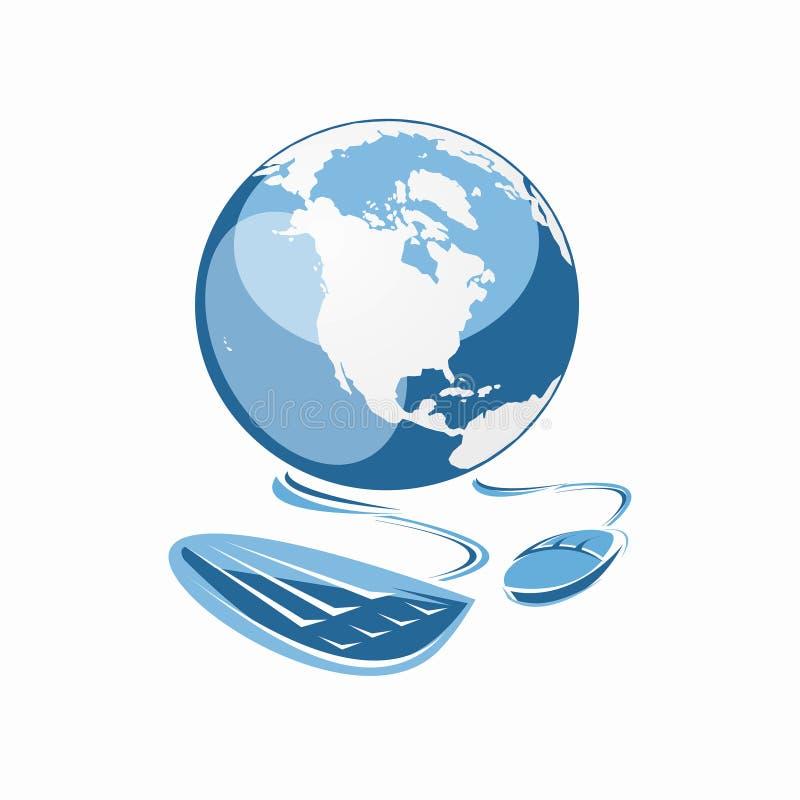 Internet global stock de ilustración