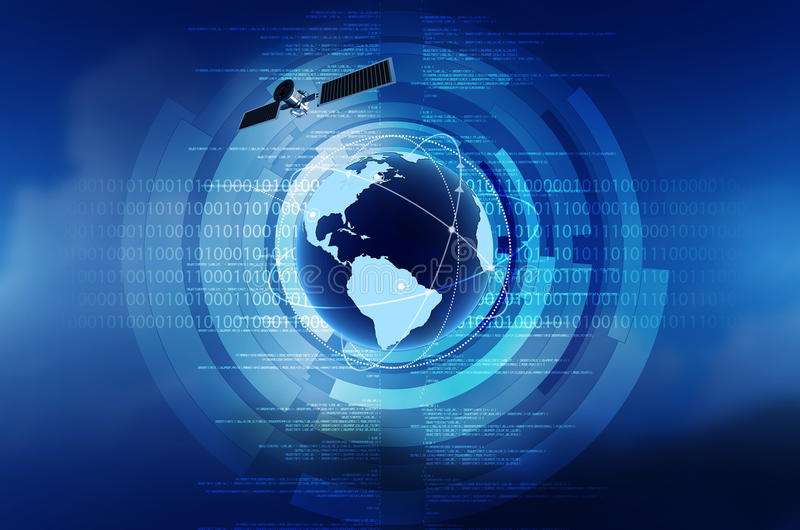 Internet global de concept illustration libre de droits