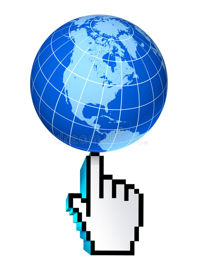 Internet global North America United States web stock illustration