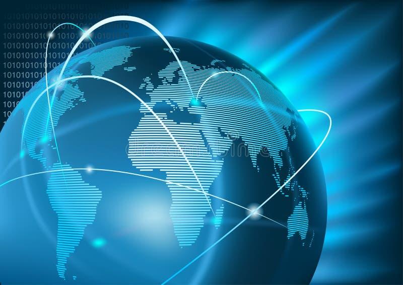Internet-globales Geschäft lizenzfreie abbildung