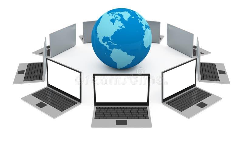Internet-Globalisierung lizenzfreie abbildung