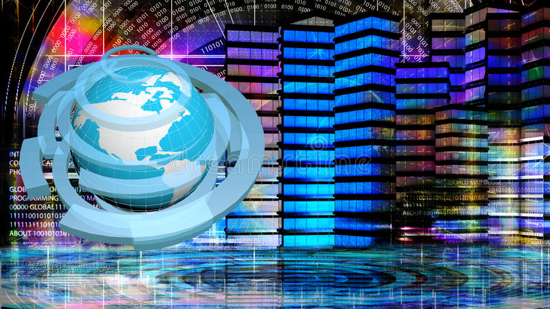Internet globalization illustrazione di stock
