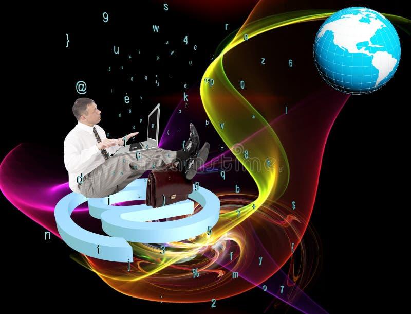 Internet. Globalization digital connection technology vector illustration