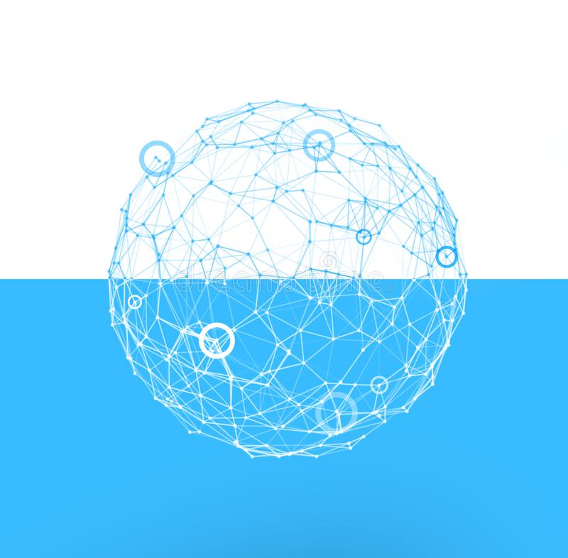 Internet globe. Concept of connection and network. royalty free stock photo