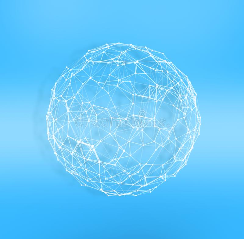 Internet globe. Concept of connection and network. royalty free stock photos