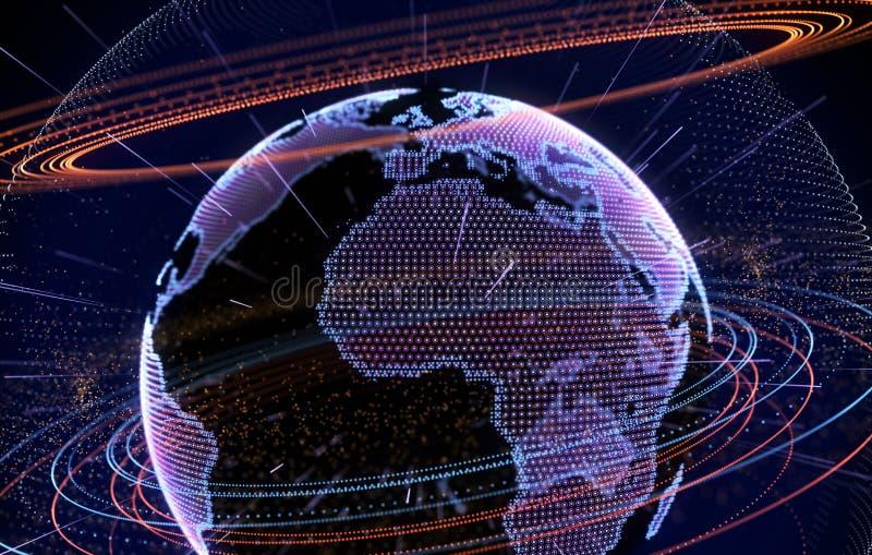 Internet, grandes données et concept de technologie de l'information illustration libre de droits