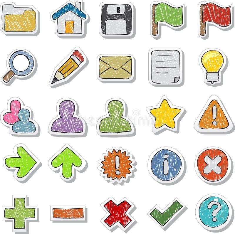 Internet, graphismes de site Web réglés illustration libre de droits