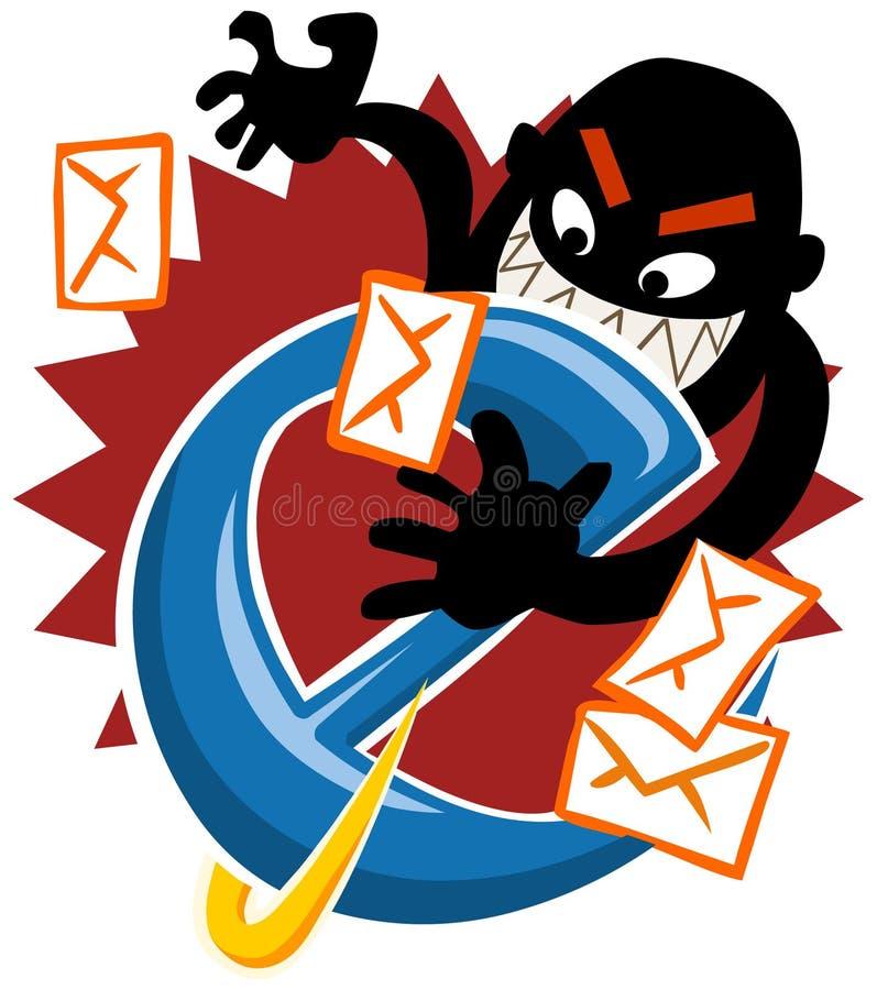 Internet Hack. Security on the web. Vector Illustration royalty free illustration