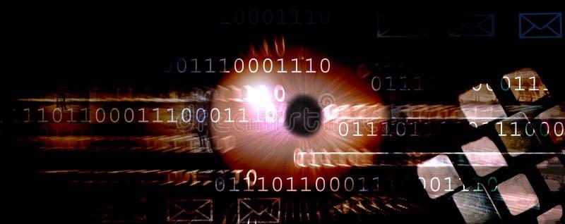 Internet header. Website header regarding, internet and new technology of communication but also hacker and spy