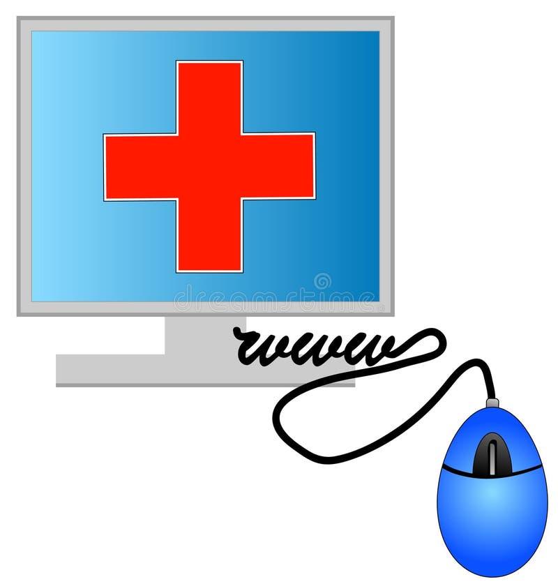 Internet health care stock illustration