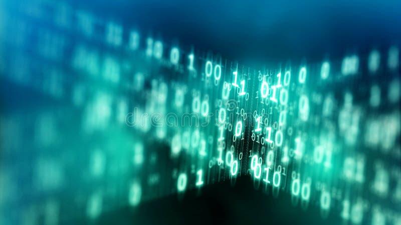 Internet-het concept van de gegevenscode vector illustratie