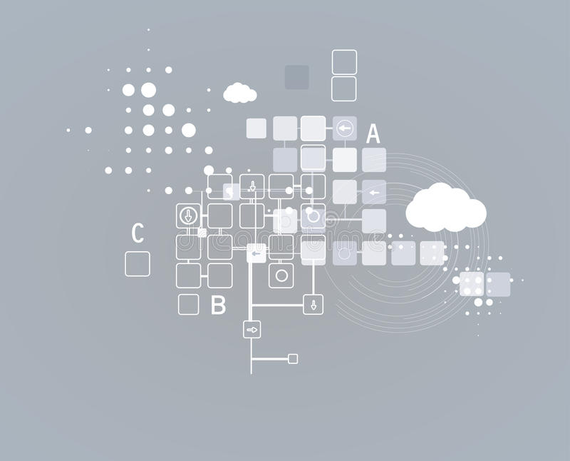 Internet-het concepten van de bedrijfs computer nieuwe technologie oplossingen vector illustratie