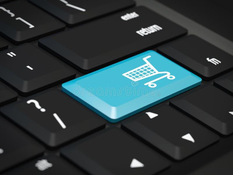 Internet-het winkelen royalty-vrije illustratie