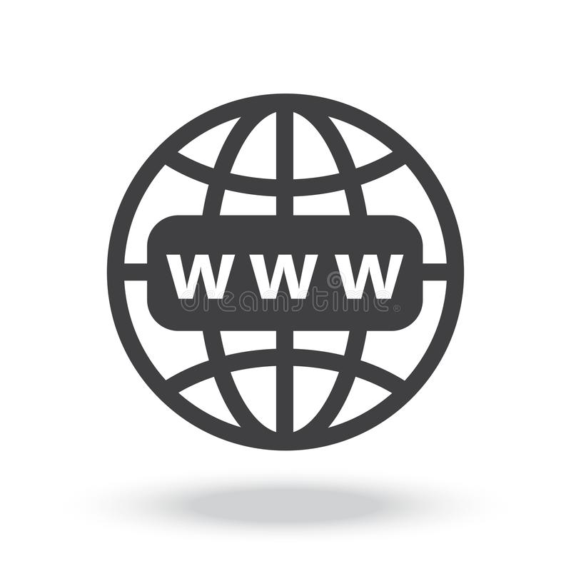 Internet http address icon. For website and other work vector illustration
