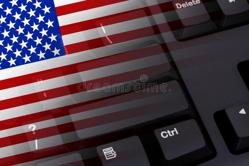 Internet i USA arkivbild