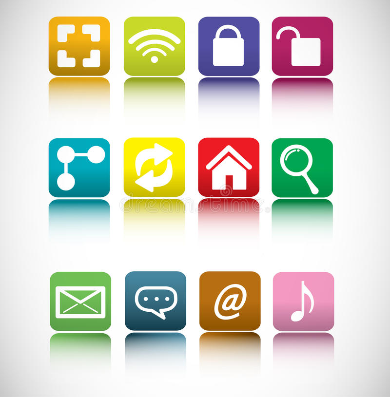 Download Internet icon  set stock vector. Illustration of communication - 33497344