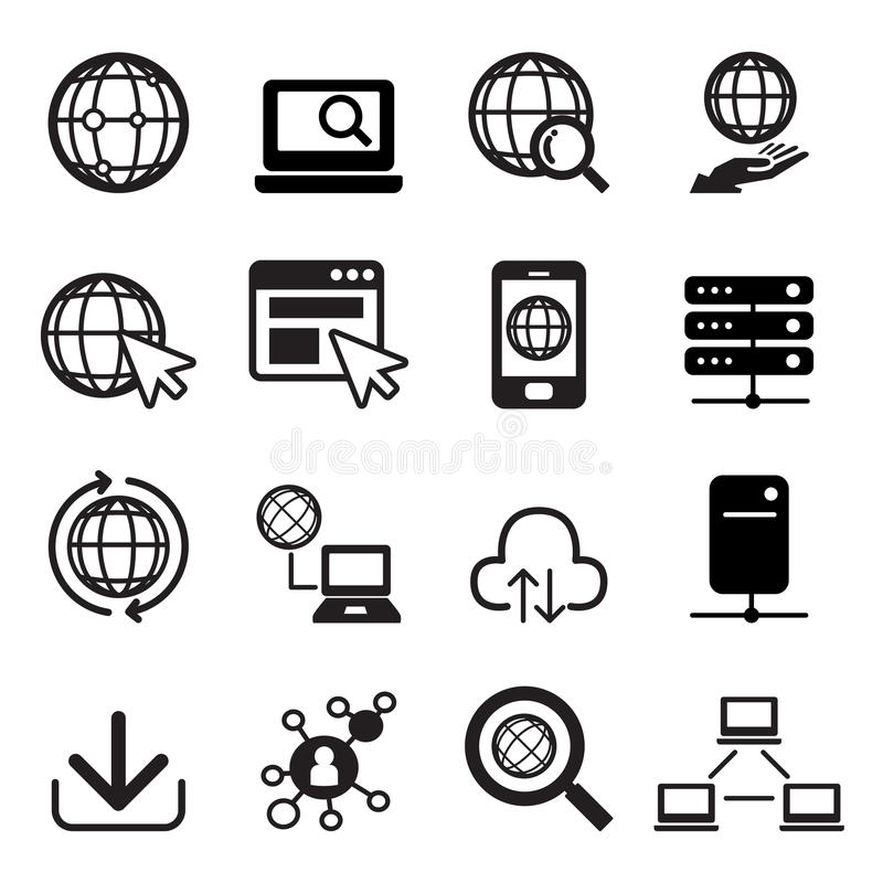 Internet icon set. Vector illustration Graphic Design stock illustration