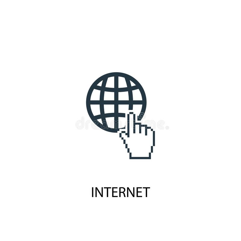 Internet icon. Simple element. Illustration. internet concept symbol design. Can be used for web and stock illustration