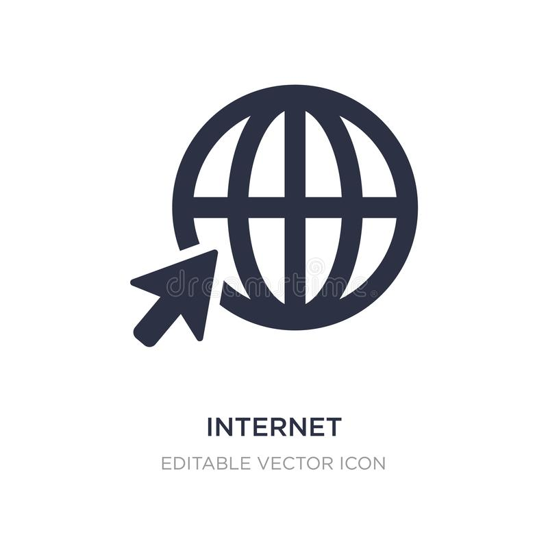 Internet icon on white background. Simple element illustration from Signs concept. Internet icon symbol design royalty free illustration