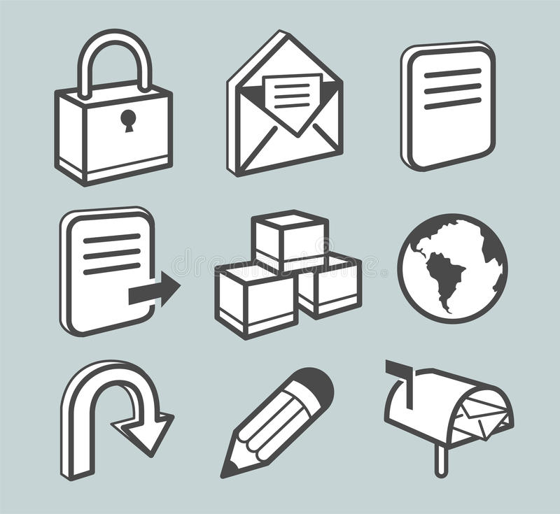 Download Internet icons stock vector. Image of mail, illustration - 12203572