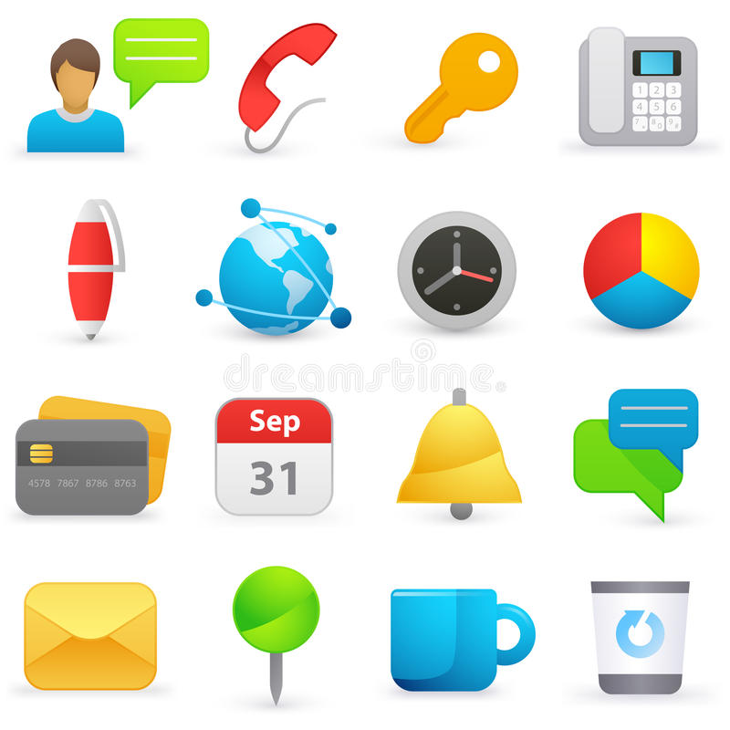 Download Internet icons stock vector. Image of credit, information - 19609024