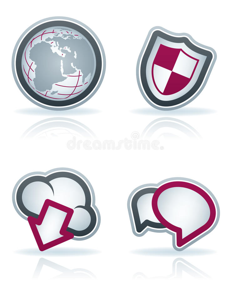 Download Internet Icons stock illustration. Image of browser, grey - 24408686