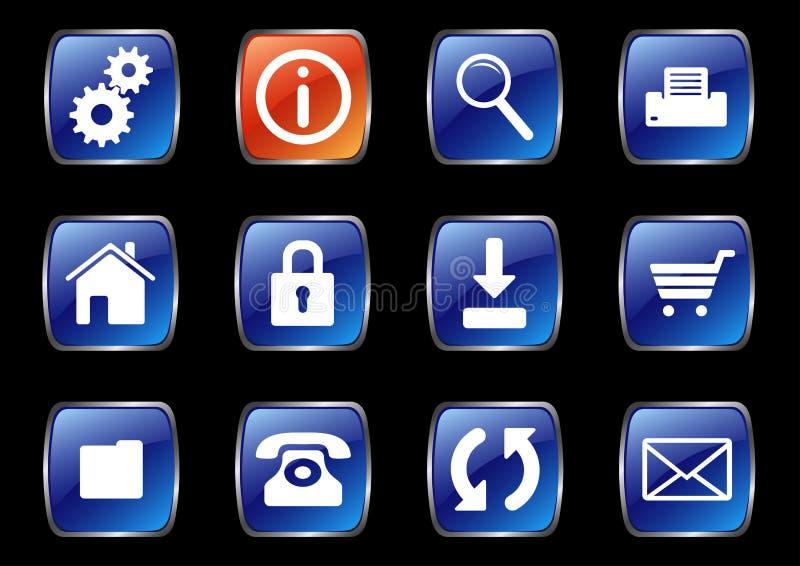 Internet icons. A set of useful internet icons royalty free illustration