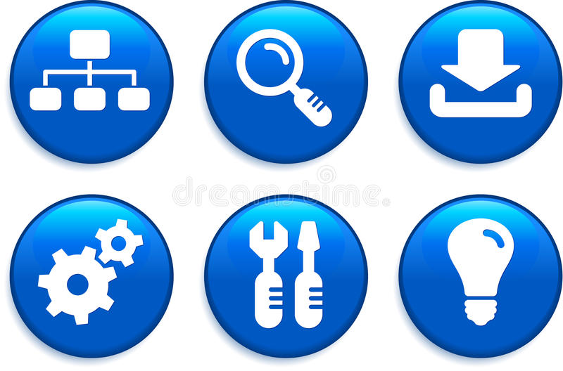 Internet Icons Buttons royalty free illustration