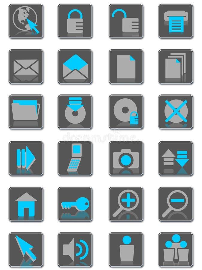 internet icons01 stock illustrationer