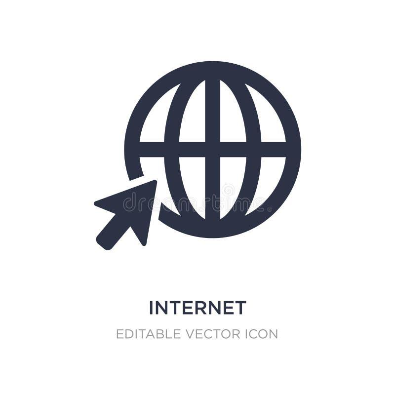 Internet-Ikone auf weißem Hintergrund Einfache Elementillustration vom Zeichenkonzept lizenzfreie abbildung