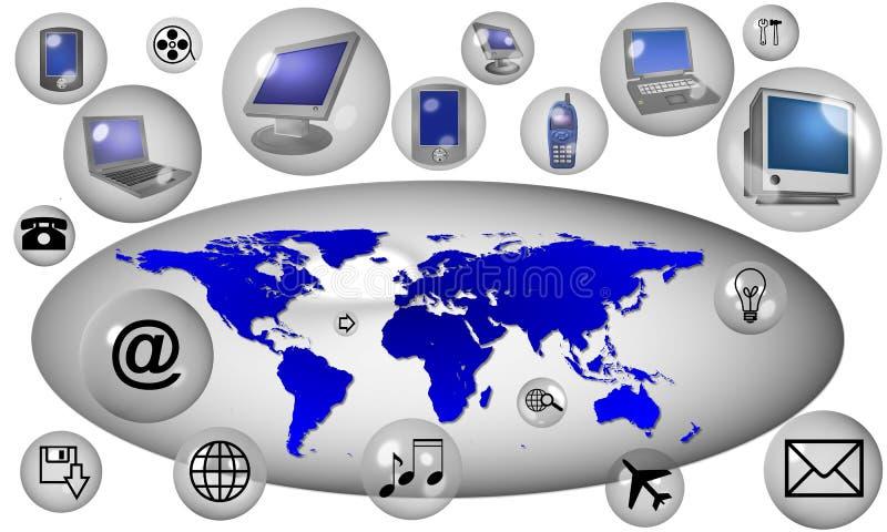 Internet-Ikonen stock abbildung