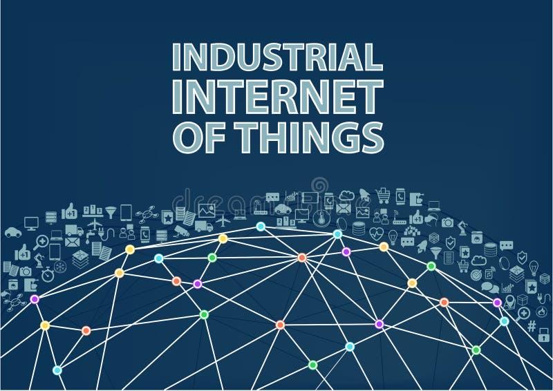 Internet industrial do fundo da ilustração das coisas ilustração royalty free