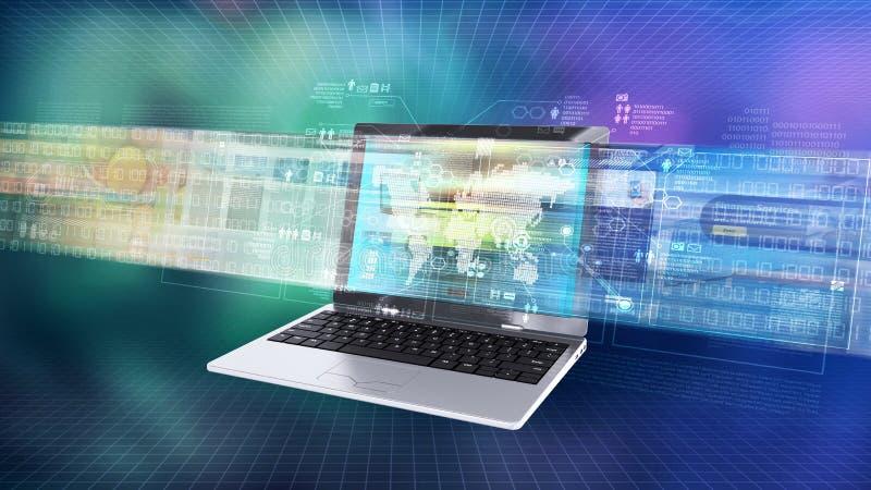 Internet information technology concept. Internet and informaton technology conceptual images vector illustration