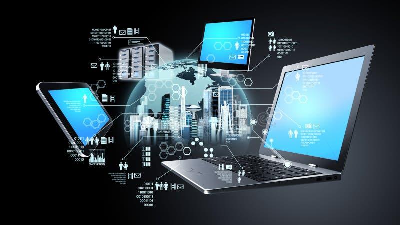 Internet information technology concept. Internet and information technology conceptual images royalty free illustration