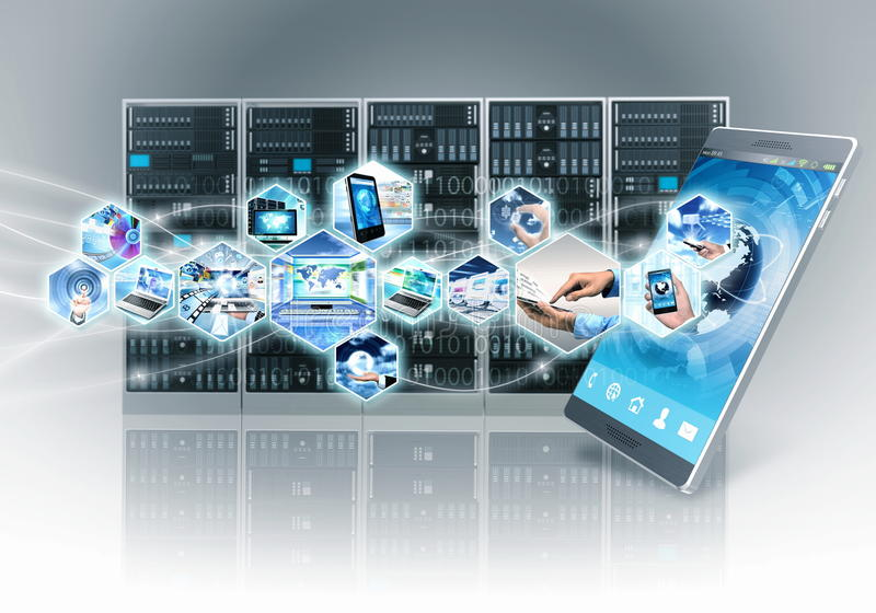Internet and information technology royalty free illustration