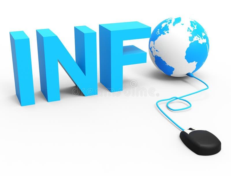 internet informationen stellen world wide web dar und globalisieren stock abbildung. Black Bedroom Furniture Sets. Home Design Ideas