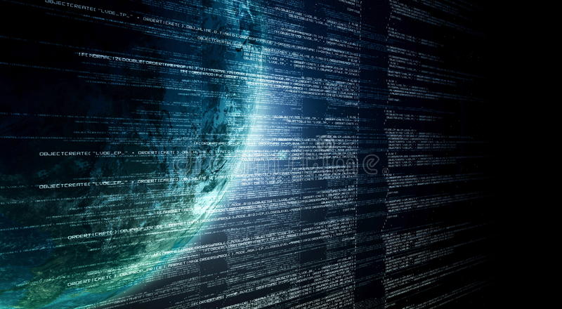Internet-Informationstechnologie stock abbildung