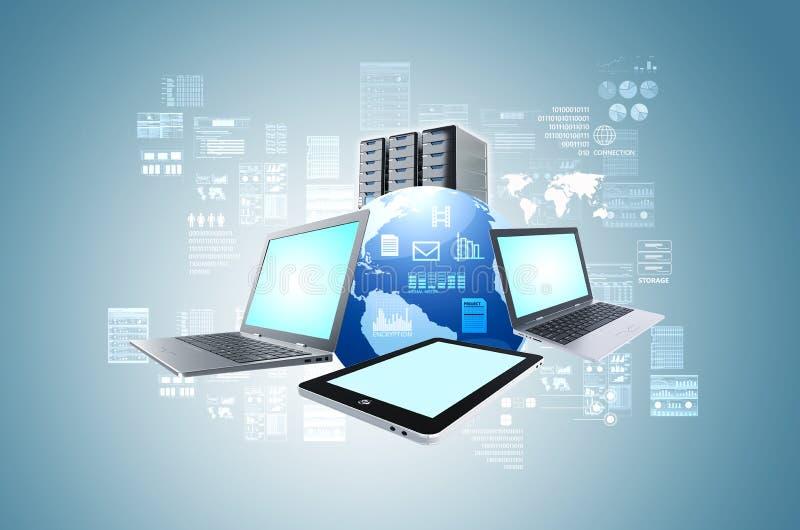Internet-Informationstechnologiekonzept vektor abbildung