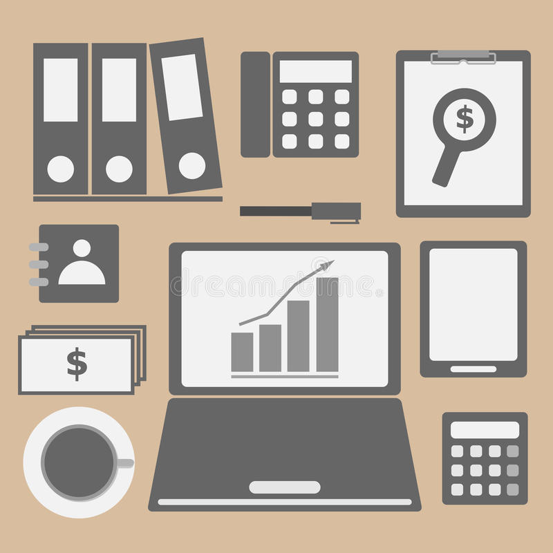 Download Internet Investor At Home Office Icon Stock Image - Image: 33568299