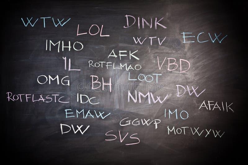 Internet-jargon stock foto
