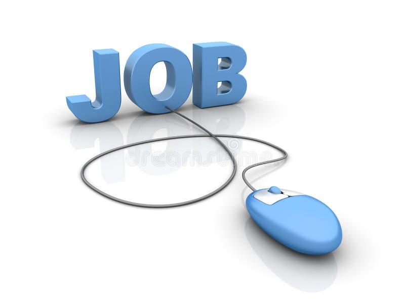 Internet-Job vektor abbildung