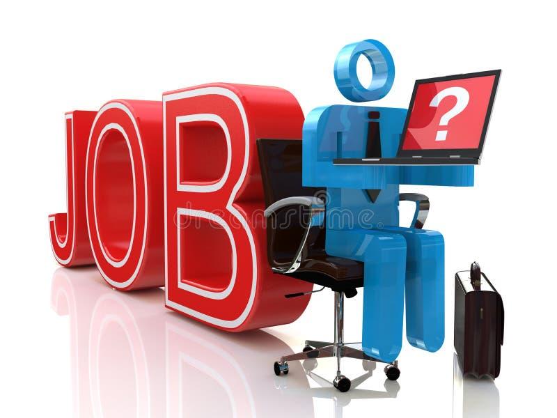 Internet job search royalty free stock photo