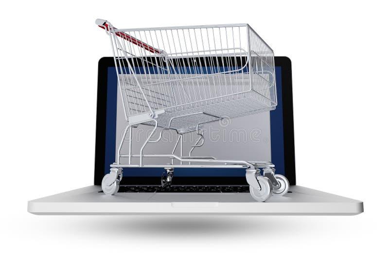 Internet-Käufer lizenzfreie abbildung