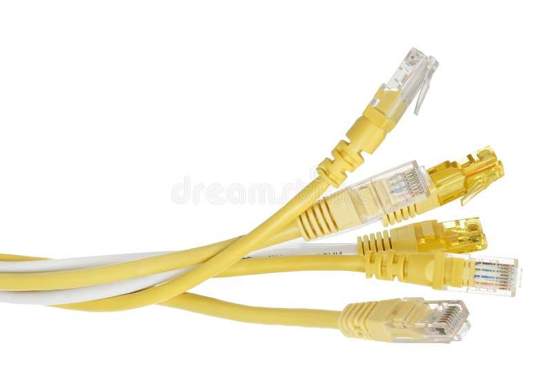 Internet-kabels royalty-vrije stock afbeeldingen