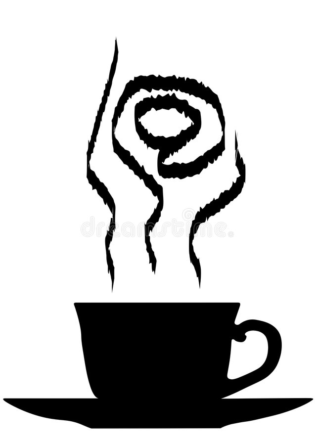 Internet-Kaffee lizenzfreie abbildung