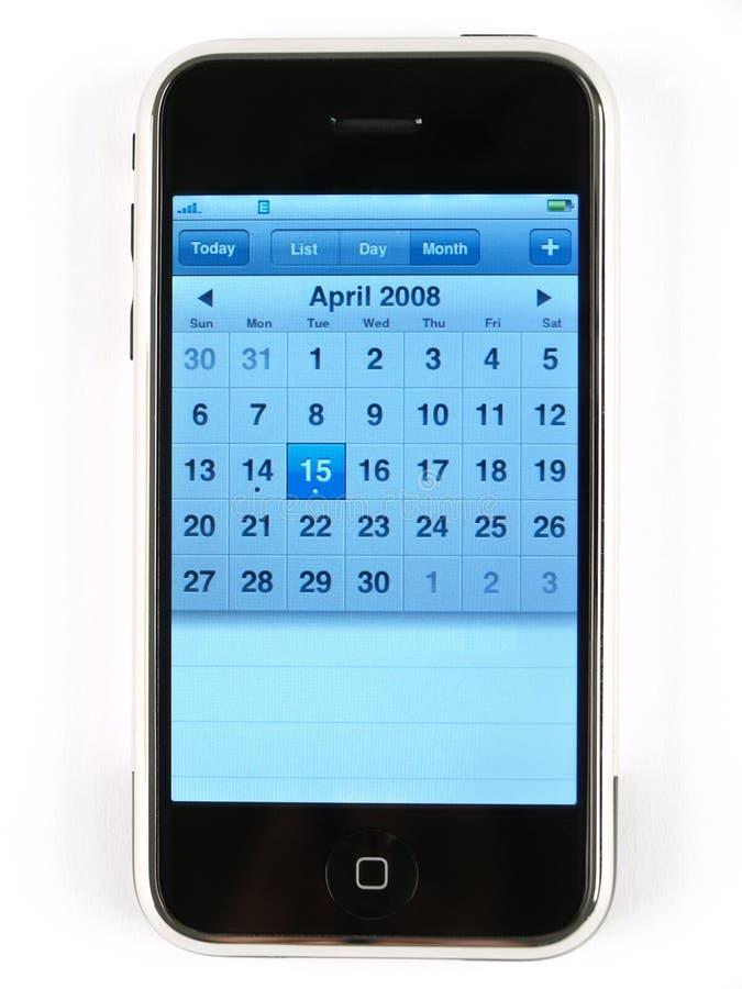 Internet-kalender-telefoon royalty-vrije stock fotografie