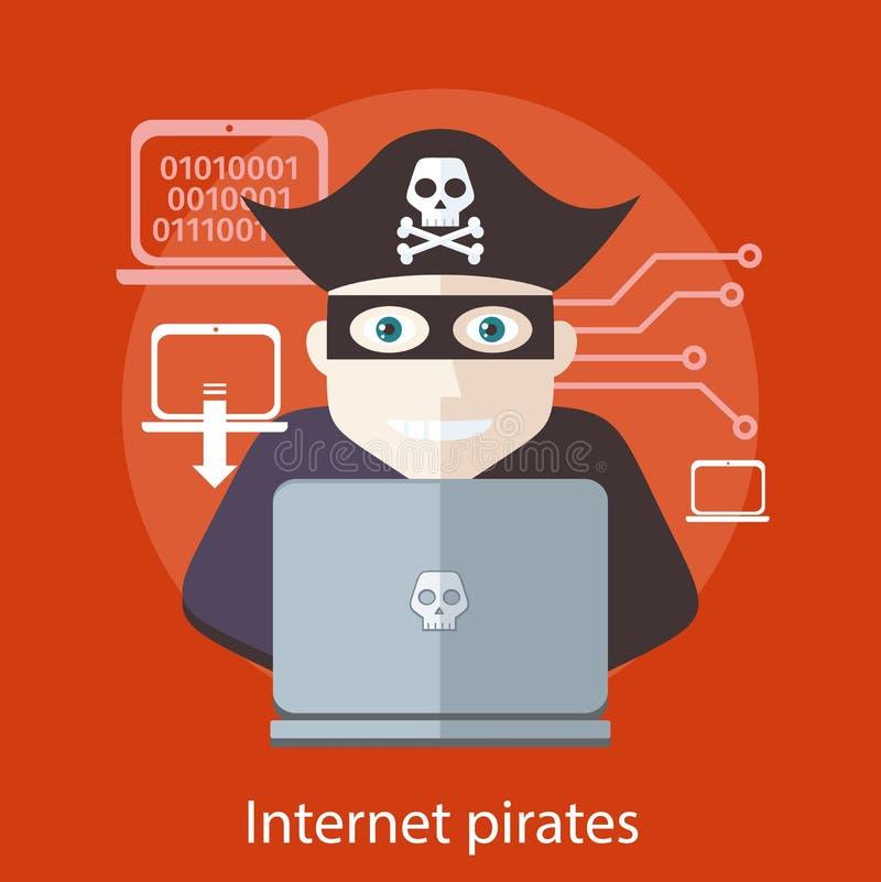 Internet kapert Konzept lizenzfreie abbildung